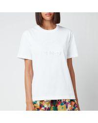 KENZO Loose T-shirt Embossed Tiger - White