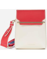 Strathberry North/south Stylist Cross Body Bag - Red
