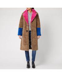 Saks Potts Febbe Bold Shearling Coat - Natural
