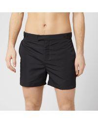 Frescobol Carioca Tailored Short Block Swim Shorts - Black
