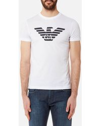 4ee5b6645 Emporio Armani - Aj Chest Logo T-shirt - Lyst