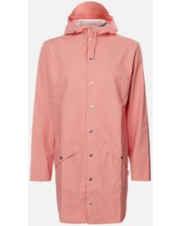 Rains Long Jacket - Pink