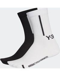 Y-3 2-pack Crew Socks - Black