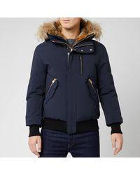 Mackage Dixon Fur Bomber Jacket - Blue