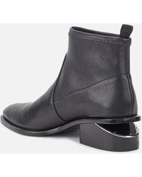 Alexander Wang Kori Stretch Flat Ankle Boots - Black