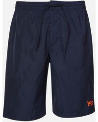 Y-3 Logo Swim Shorts - Blue