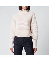 Victoria, Victoria Beckham Crossover Back Sweater - White