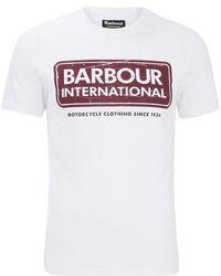 Barbour - International Logo T-shirt - Lyst
