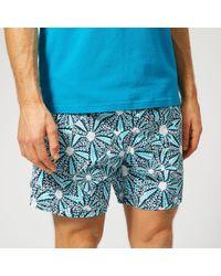 Vilebrequin Moorea Mid-length Printed Swim Shorts - Blue