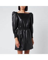 Philosophy Di Lorenzo Serafini Faux Leather Dress - Black