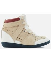 Isabel Marant - Women's Betty Wedged Hitop Trainers - Lyst