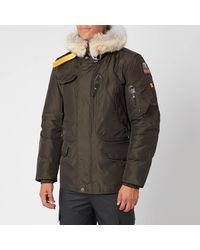 Parajumpers Right Hand Fur Hooded Parka - Grey