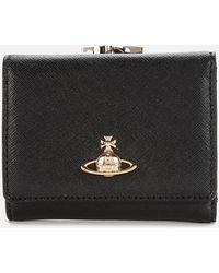 Vivienne Westwood Victoria Small Frame Wallet - Black