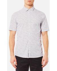 Michael Kors - Short Sleeve Slim Benjamin Print Shirt - Lyst