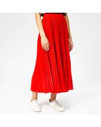 MSGM - Pleated Crepe Skirt - Lyst