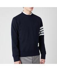 Thom Browne Engineered 4-bar Stripe Loopback Sweatshirt - Blue