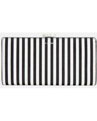Lulu Guinness - Women's Stripe Leather Frame Purse - Lyst