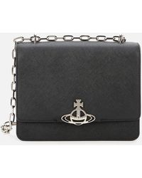 Vivienne Westwood Debbie Medium Bag With Flap - Black