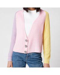 Olivia Rubin Tally Cropped Cardigan - Pink