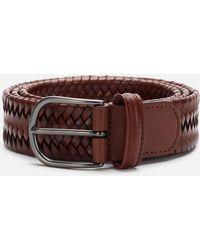 Andersons Matt Buckle Woven Belt - Brown