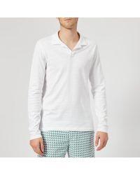 Orlebar Brown - Men's Felix Long Sleeve Slub Polo Shirt - Lyst
