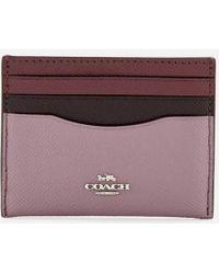 COACH - Women's Colorblock Flat Card Case - Lyst