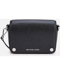 MICHAEL Michael Kors Jet Set Small Full Flap Cross Body Bag - Black