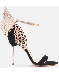 Sophia Webster Women's Black Evangeline Winged Suede Heeled Sandals - Multicolour