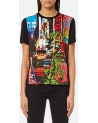 PS by Paul Smith - Women's City Lights Print Tshirt - Lyst