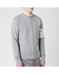 Thom Browne Engineered 4-bar Stripe Loopback Sweatshirt - Grey