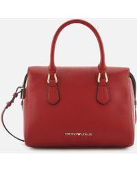 Emporio Armani Boston Top Handle Shopper Bag - Red
