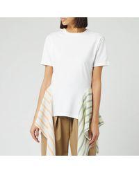 JW Anderson Handkerchief Drape T-shirt - White