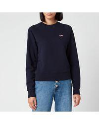 Maison Kitsuné Sweatshirt Tricolor Fox Patch - Blue