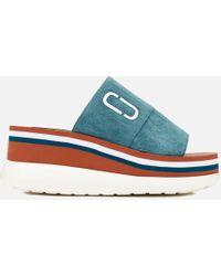 Marc Jacobs Lex Platform Sport Slide Sandals - Blue