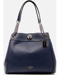 COACH Turnlock Edie Shoulder Bag - Blue