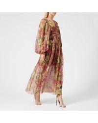 Zimmermann Melody Wrap Long Dress - Multicolour