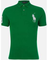Polo Ralph Lauren Slim Fit Basic Mesh Polo Shirt - Green