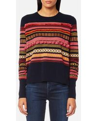 PS by Paul Smith - Women's Pom Pom Knitted Jumper - Lyst