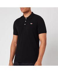 Maison Kitsuné Tricolor Fox Patch Polo Shirt - Black