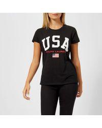 Polo Ralph Lauren - Women's Usa Tshirt - Lyst