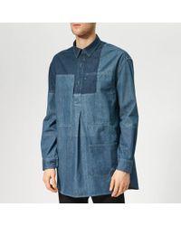 JW Anderson Patchwork Denim Shirt - Blue