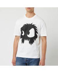 McQ Screenprinted Monster Dropped Shoulder T-shirt - White