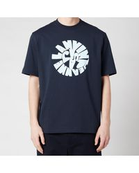 Lanvin Printed Regular T-shirt - Blue