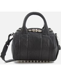 Alexander Wang - Mini Rockie Pebbled Leather Bag With Rhodium Studs - Lyst