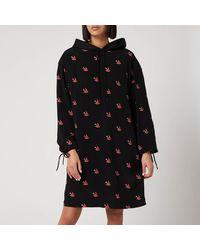 McQ Umeko Hoody Dress - Black