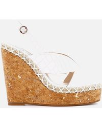 Sophia Webster Rita Croc Wedged Sandals - White