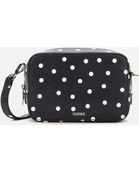 Ganni Polka Dot Cross Body Bag - Black