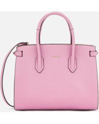 Furla Pin Small Tote Bag - Pink