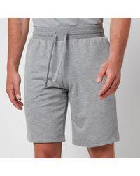 Emporio Armani - All Over Logo Terry Bermuda Shorts - Lyst