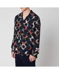 Acne Studios Floral Polka Shirt - Blue